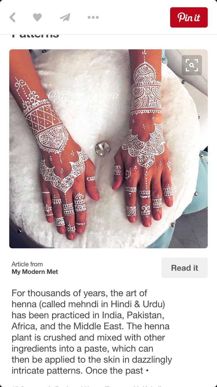 White henna design 5 five white henna designs - White Henna