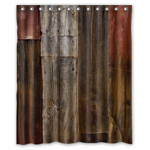New Waterproof Decorative Rustic Old Barn Wood Art Shower Curtain 60x72 Inch in Home & Garden, Bath, Shower Curtains | eBay