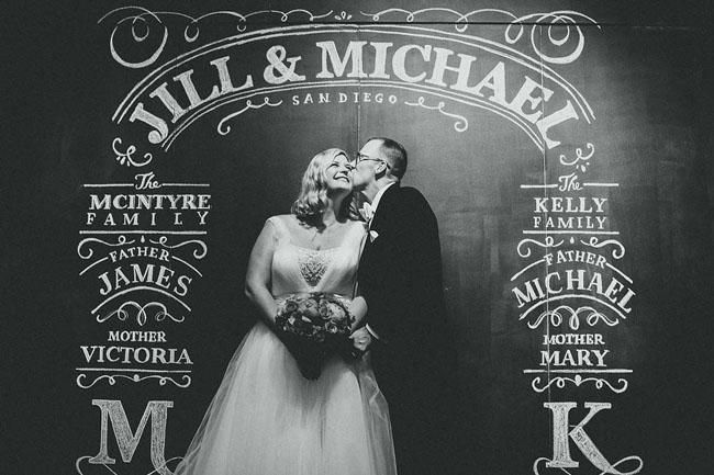 Modern San Diego Museum Wedding: Jill + Mike