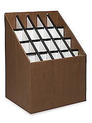 Roll Storage Box - 20 Compartment S-12783 - Uline - something similar to organize paper rolls?