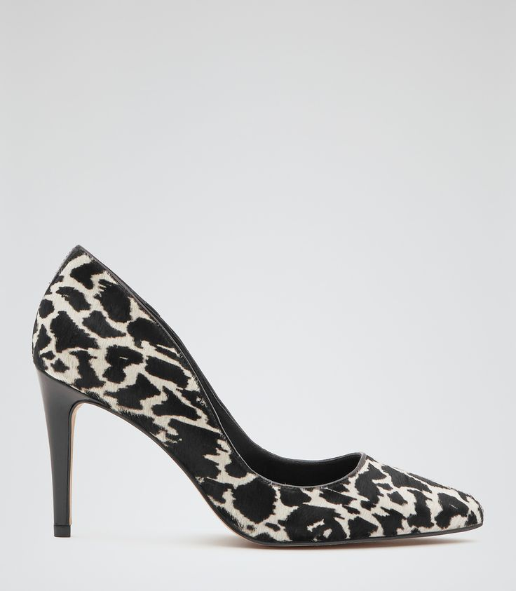 Womens Animal Print Animal Print Court Shoes - Reiss Ivy Print