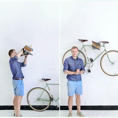 """Wood Bike Hanger """"Iceberg"""""""