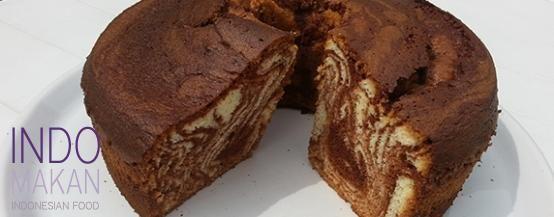 Kue Zebra Chiffon - Sponge Cake with zebra-effect