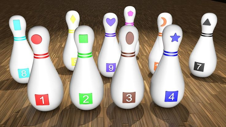 Learn Colors for Children with Bowling Game Toys 3D Kids Toddler Learnin...