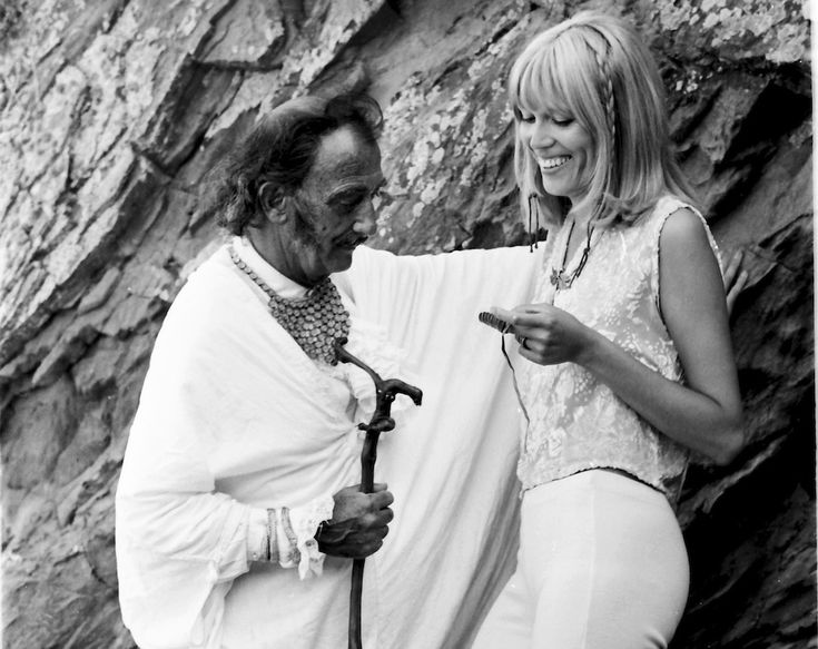 Salvador Dali with his model and muse Amanda Lear [1969]