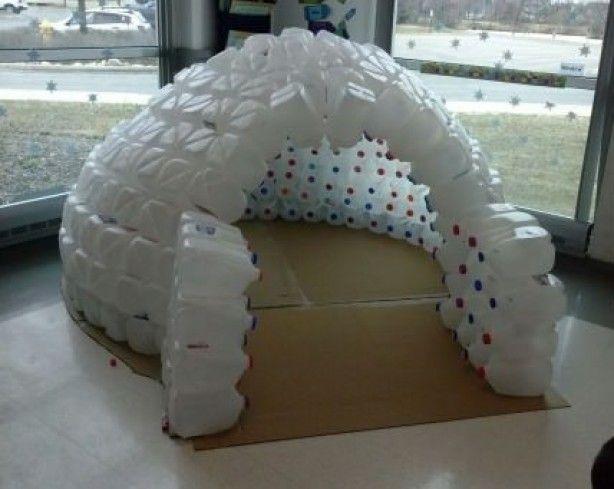 Leuke iglo voor de kids.