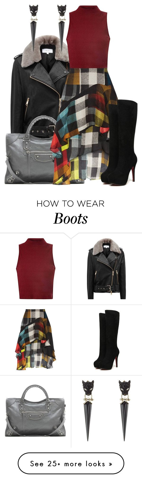 """Boot Scootin'"" by melissa-chung-pnklmnade on Polyvore featuring Reiss, Glamorous, Balenciaga, Preen and Alexis Bittar"