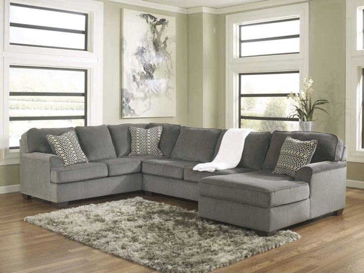 Loric 12700 Smoke Grey Sectional Sofa Living Spaces Ashley Home Store  Furniture San Diego Ca,