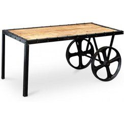 photo Soldes -60 % Table basse chariot Onawa style industriel vintage (ancien prix : 675.90¤)