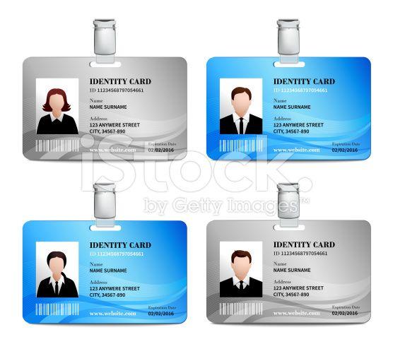 Tarjeta de identificación vector de stock libre de derechos