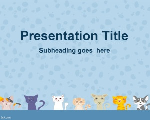Cats Background for PowerPoint is a nice animal background for PowerPoint presentations with cats