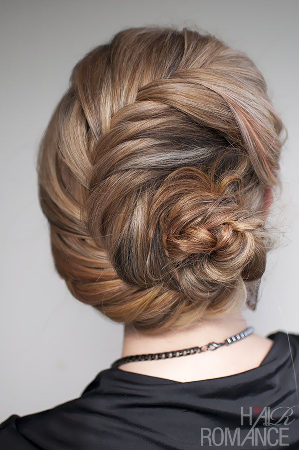 Hairstyle tutorial - French fishtail braid chignon~~~ obsessed with this site, and deff trying this for my next big event!
