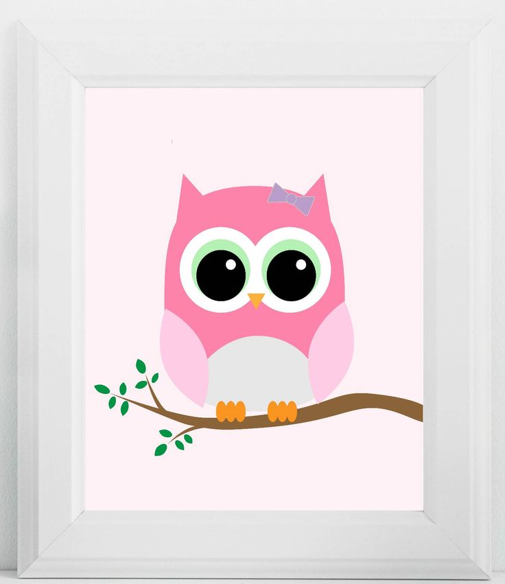 Owl Nursery Print, Owl Nursery Decor, Owl Nursery Art, Pink Nursery Print, Wall Decor, Gift, Nursery Art, Nursery, Instant Download by BibiManiaDesigns on Etsy