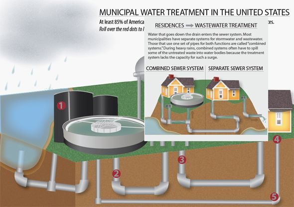 Click to Interact with Municipal Water Treatment in the United States Infographic