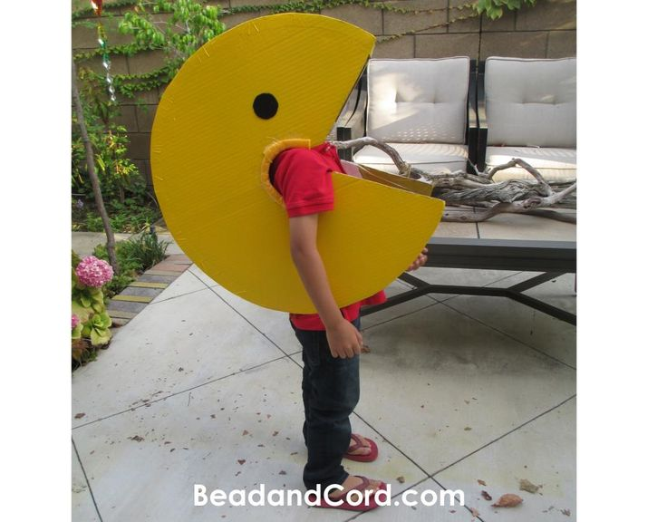 how to make a pacman costume out of cardboard