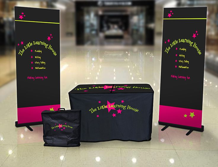 Perfect for school open days and orientation days. Brand your promotional stand with your logos and curriculum. Contact us today!