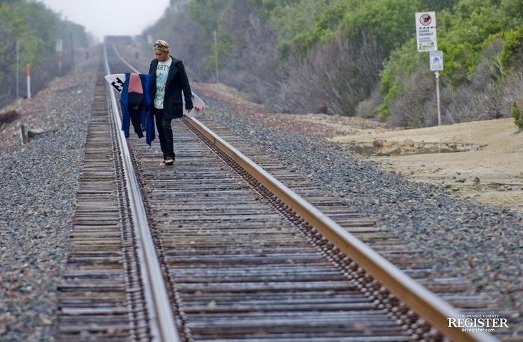 train tracks and orange1 - photo #5