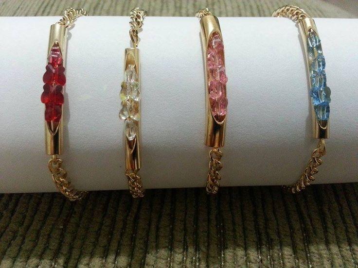 pulseiras com swarovisk