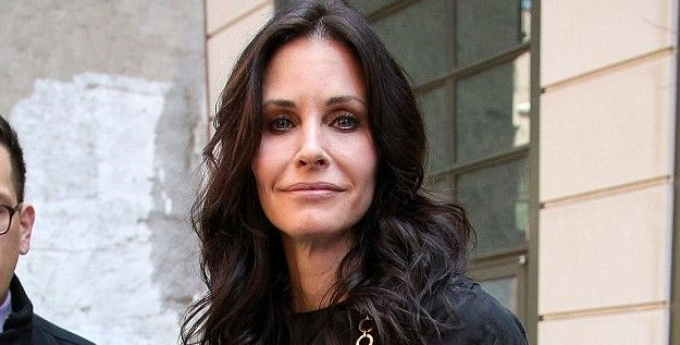 Courtney Cox's face. TOO MUCH SURGERY