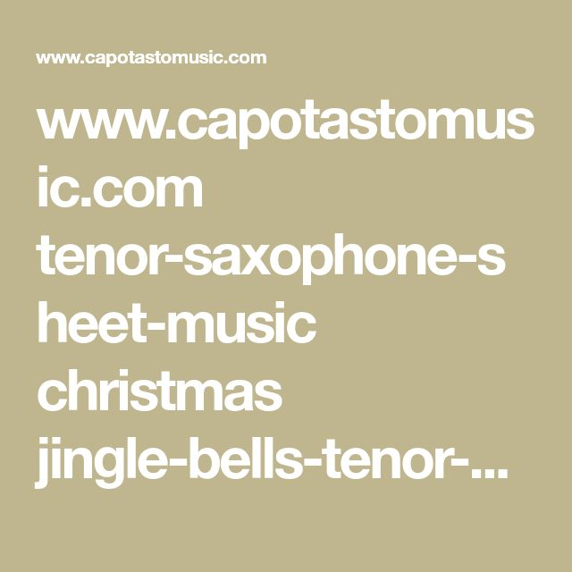 how to play tenor saxophone pdf