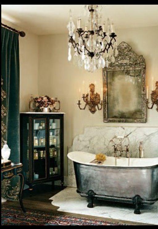 Large tin bath! Perfection!