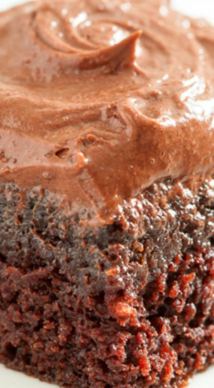 Chocolate Dump-it Cake ~ Irresistibly moist, tender, chocolatey, and gets a decadent boost with a creamy Chocolate Cream Cheese Frosting... It's an instant winner everywhere it goes.