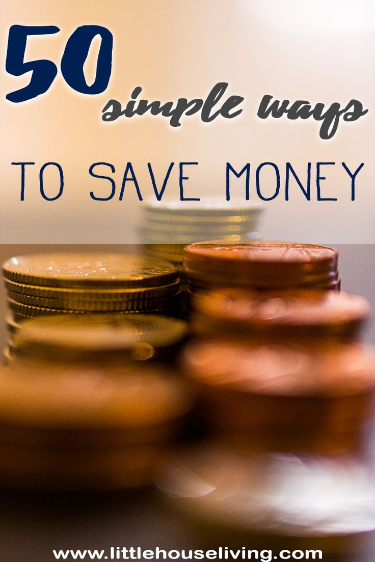 50 More Ways to Save Money this year! These are such simple ways to save money and there is a free printable list so you don't forget!