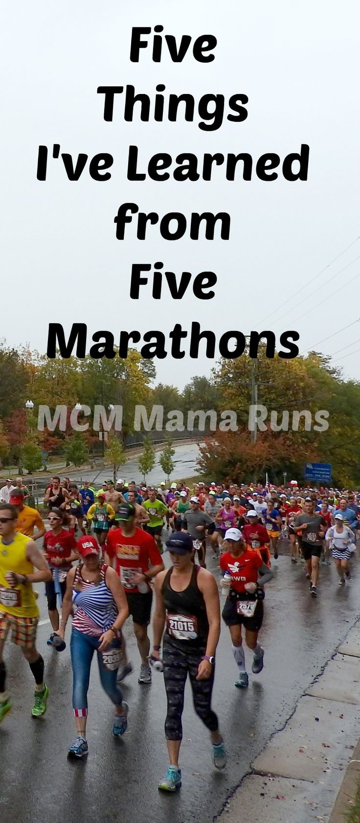 Five things I've learned from five marathons