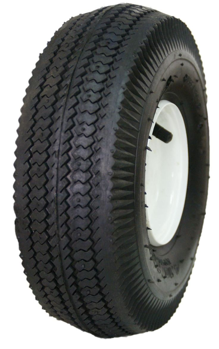 HI-RUN Wheelbarrow Tire & Wheel 4.10/3.50-4 Sawtooth