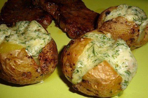Картофельный гарнир в духовке