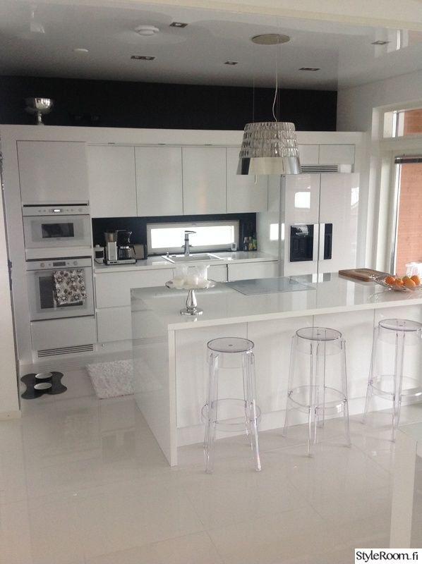 lamppu,keittiö,valaisin,mustavalkoinen,valkoinen keittiö