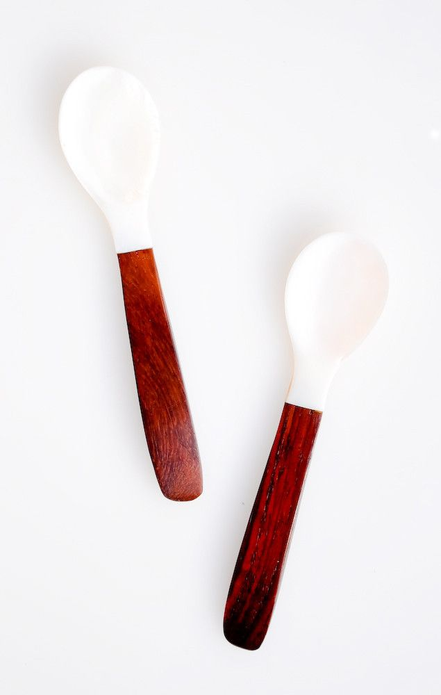 Shell Wood Spoons