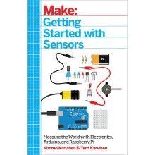 Koble til og bruk utvendige sensorer til Arduino og Raspberry Pi. Eksempler på bruk og hva som skal skje når en sensor gir utslag. Eksempler på sensorer som omtales: fotoresistor, svitsjer, potensiometer, trykkmåler, ultralydsensor, temperaturmåler osv. 140 sider på engelsk.