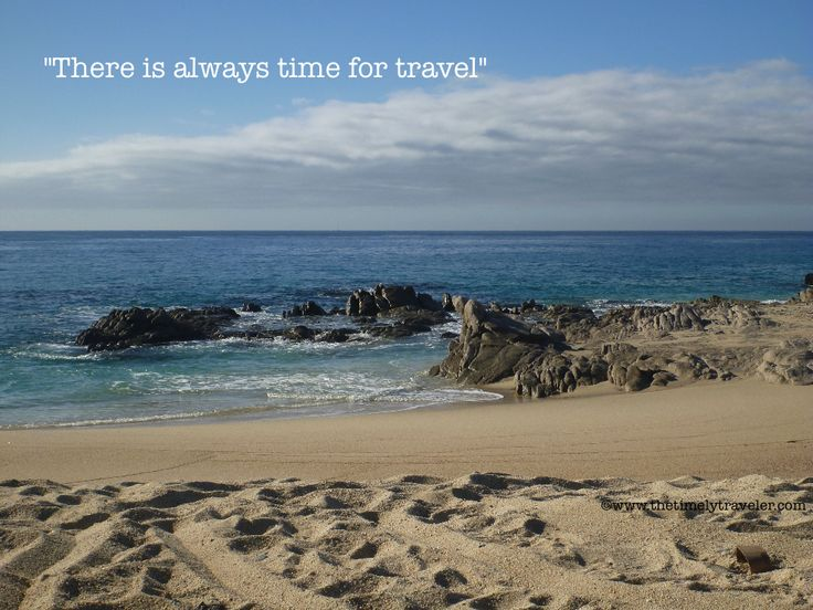 There is always time to travel!