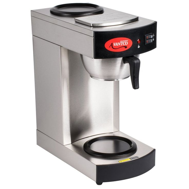 avantco c10 12 cup pourover commercial coffee maker with 2 burners 120v you - Commercial Coffee Maker
