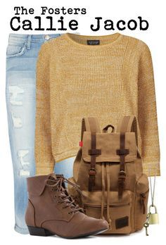 The Fosters- Callie Jacob by darcy-watson on Polyvore featuring Topshop, Current/Elliott and Z Designs