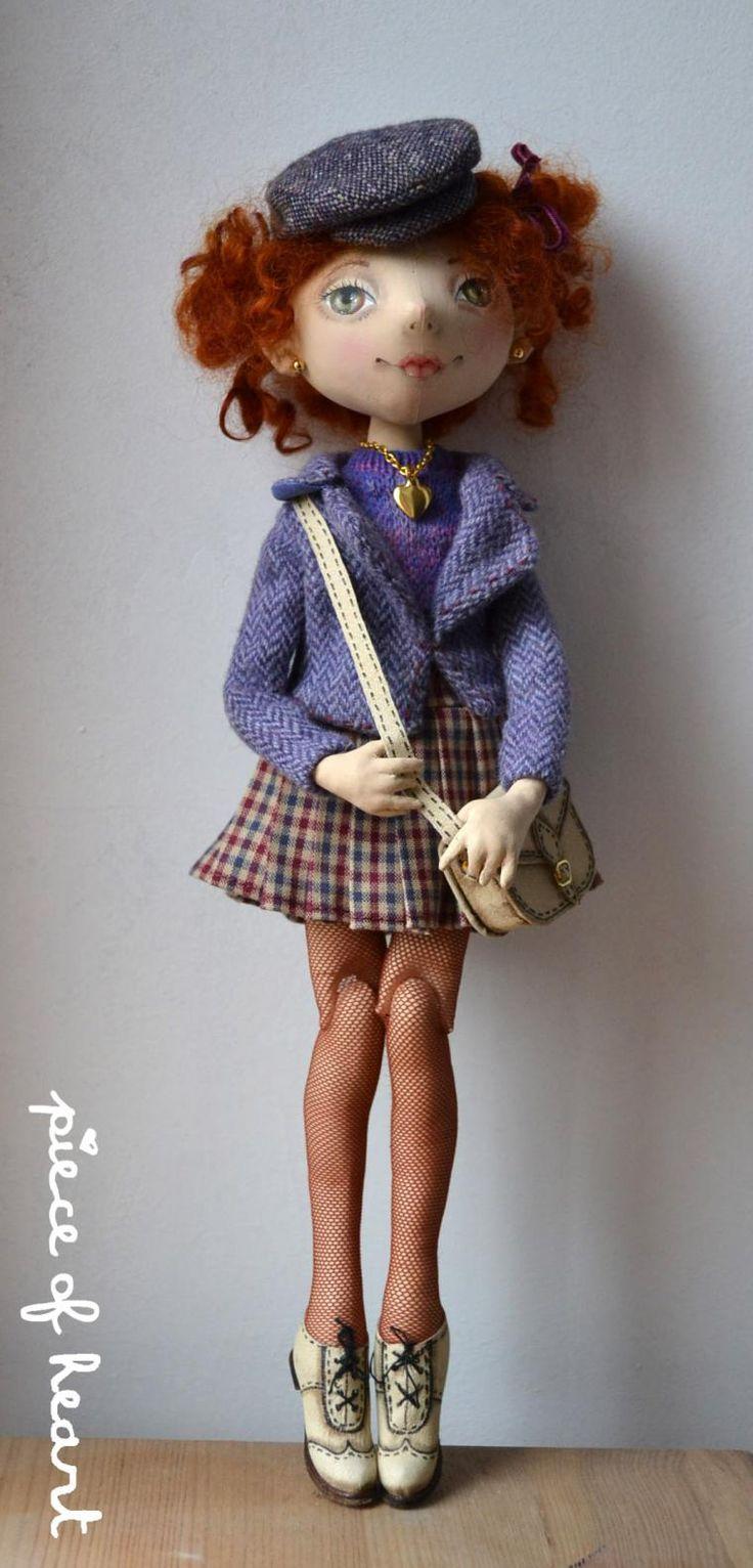Прогулка. Шарнирная текстильная кукла. Будние дни - Ярмарка Мастеров - ручная работа, handmade