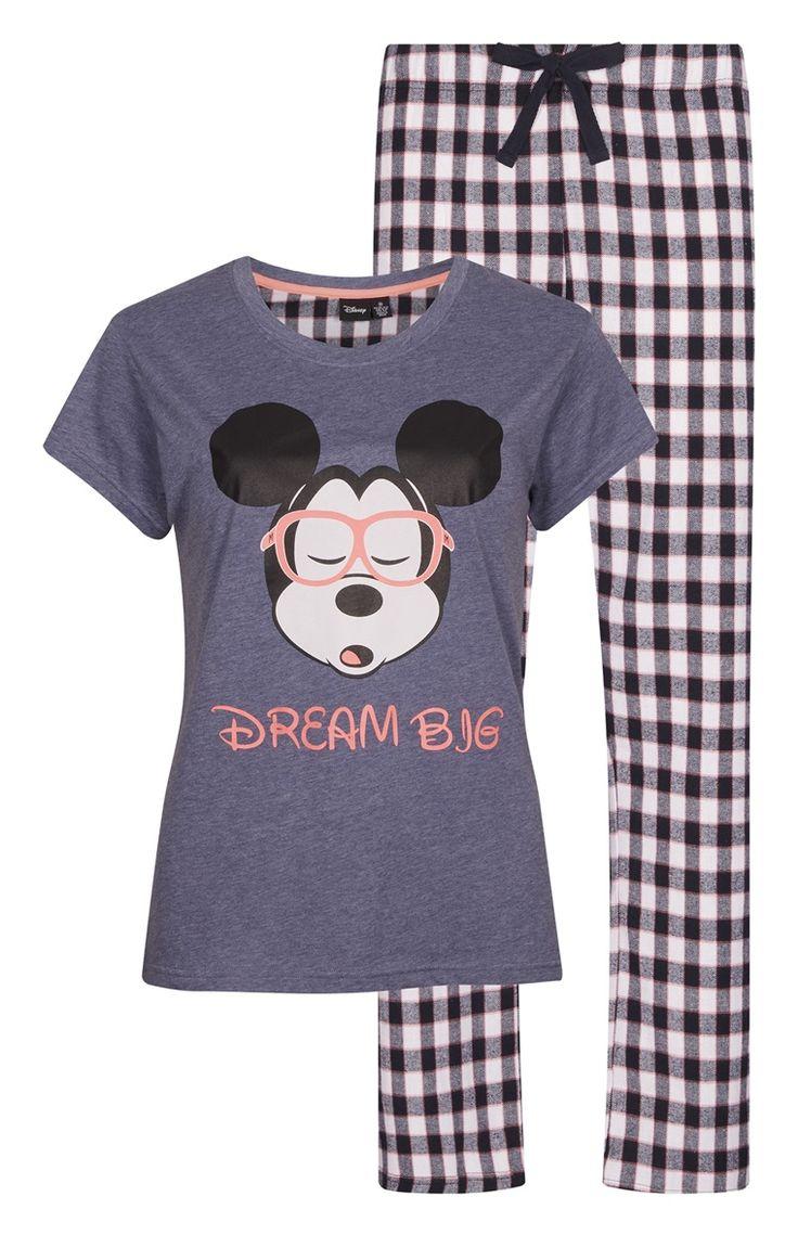 Pyjama Mickey Mouse à carreaux
