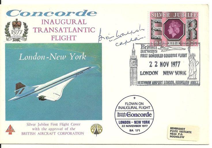 1977 Concorde Inaugural Transatlantic Flight LonNew York