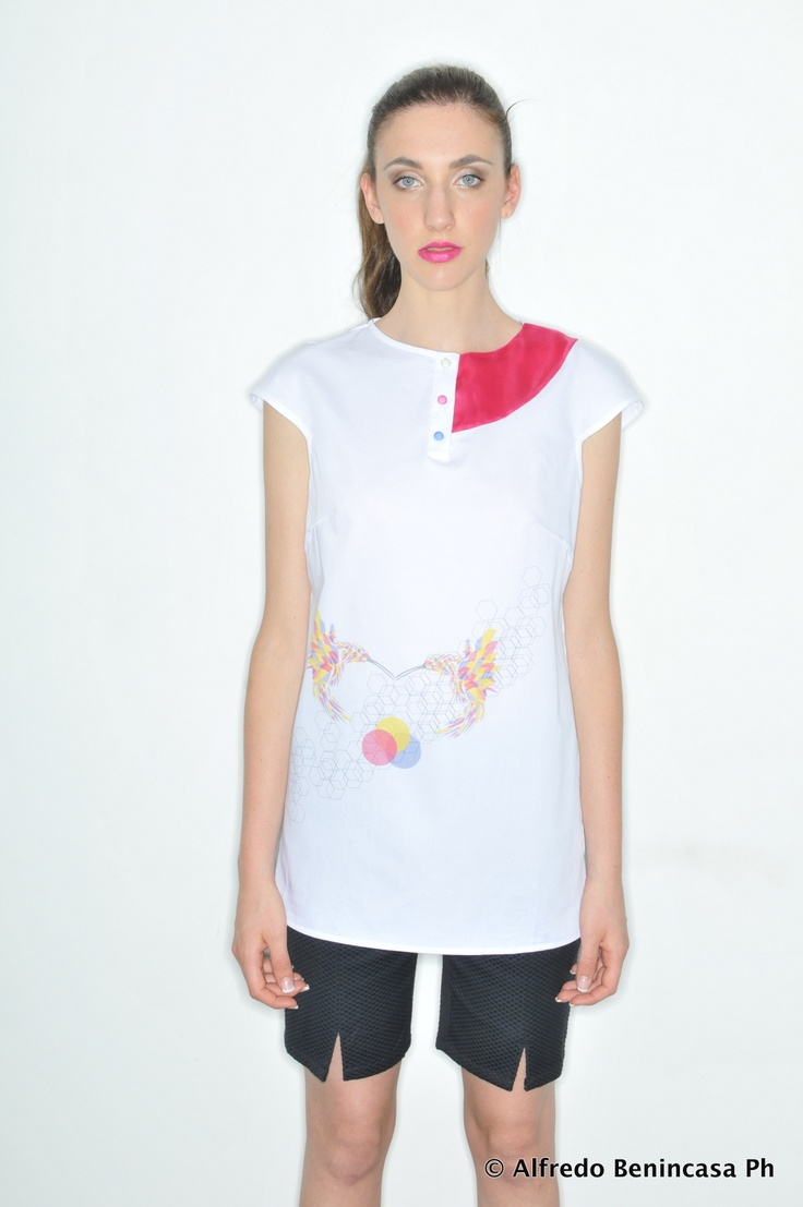 Tokyo Birds_ HanselGretel Poplin Cotton And Organza Silk Printed Top + Kanaka_ Cotton Piquet Pants