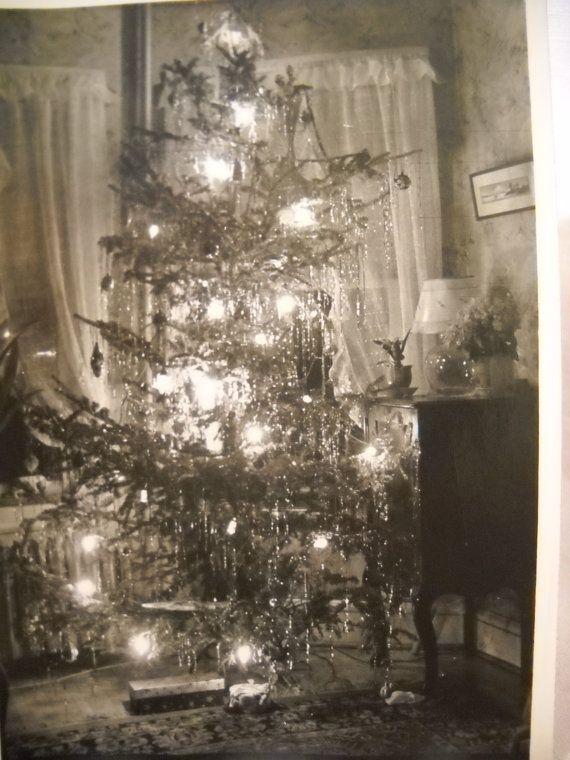 Christmas photo c1940s christmas tree christmas photos for Vintage weihnachtsdeko