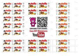 Nutella labels