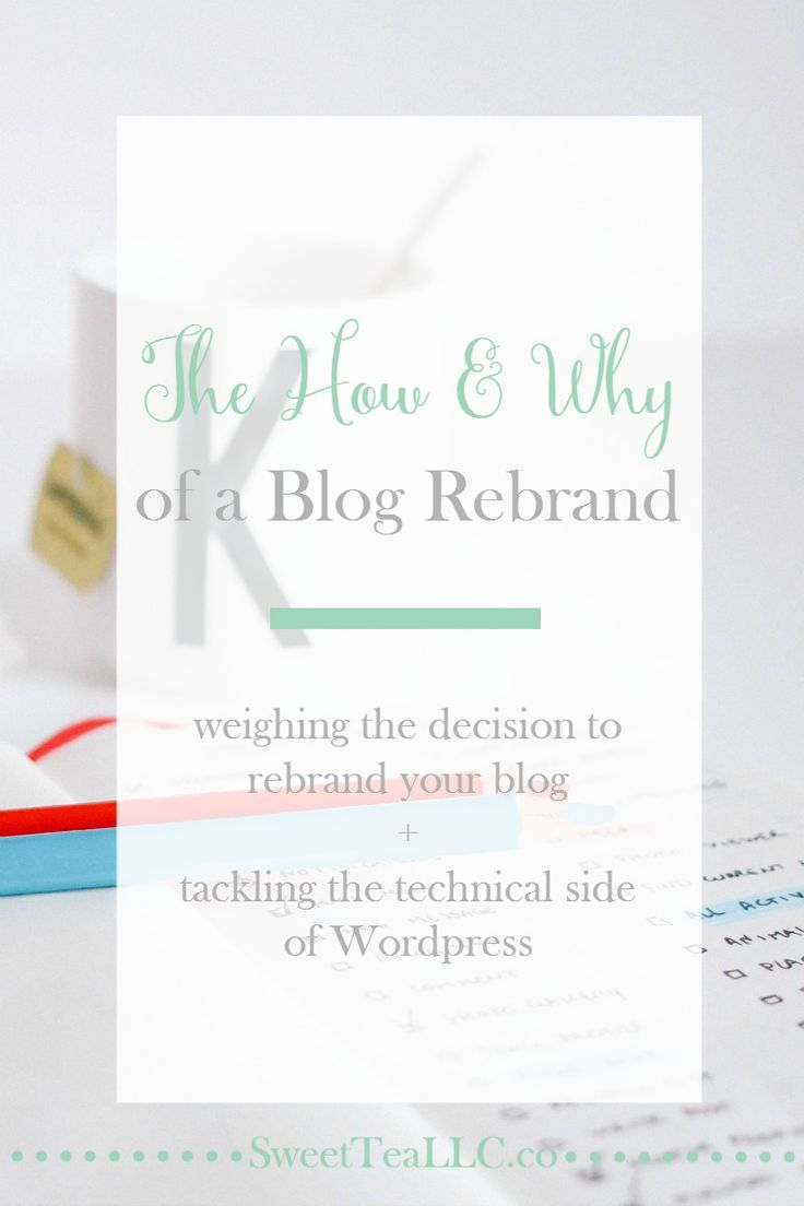 Just like everything else in life, blogging has seasons. If you are feeling the desire to rebrand your blog, see what things you need to consider first, then get a step-by-step guide to rebranding in Wordpress.