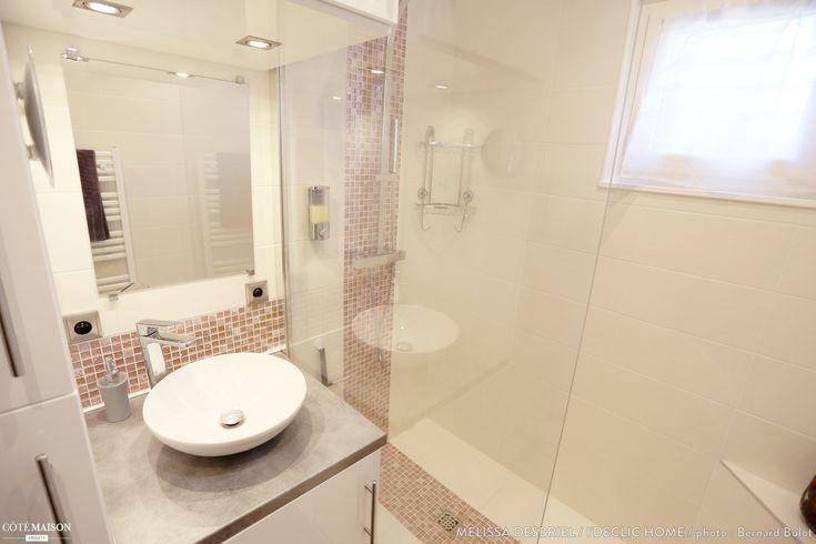Les 25 meilleures id es de la cat gorie salle de bain 3m2 sur pinterest d coration d 39 une salle - Cree un meuble salle de bain en dur ...