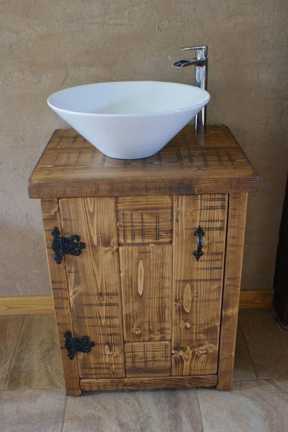 New Solid Wood Vanity Basin Unit Handmade From Chunky Solid Pine