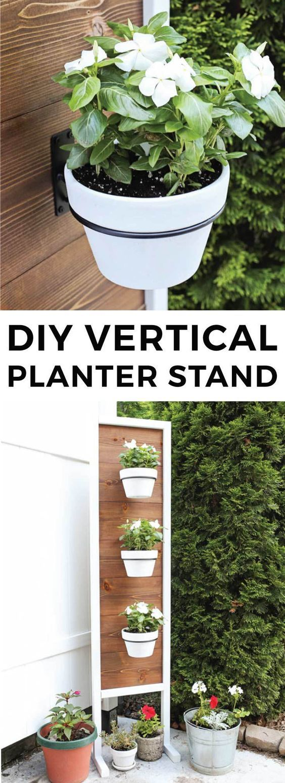 Diy Vertical Planter Stand Container Gardening