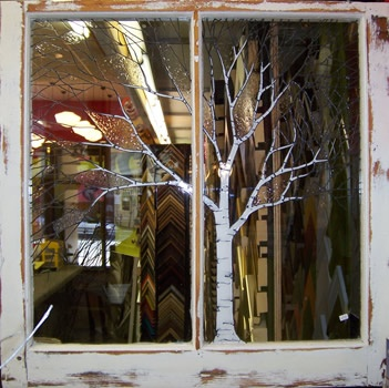 birch trees painted on glass | Craft Show Creations ...