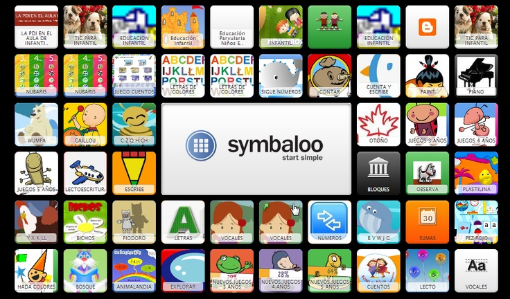 Symbaloo amb Recursos TIC per Infantil