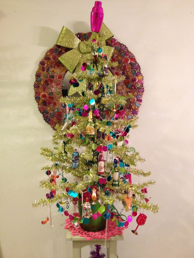 Liquor themed Christmas tree