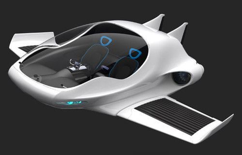 Air-Elf, futuristic, Concept, Future Air-Car, vehicle, flyingcar, Yinze Hu, fantastic, sci-fi, transportation, aircraft, airplane
